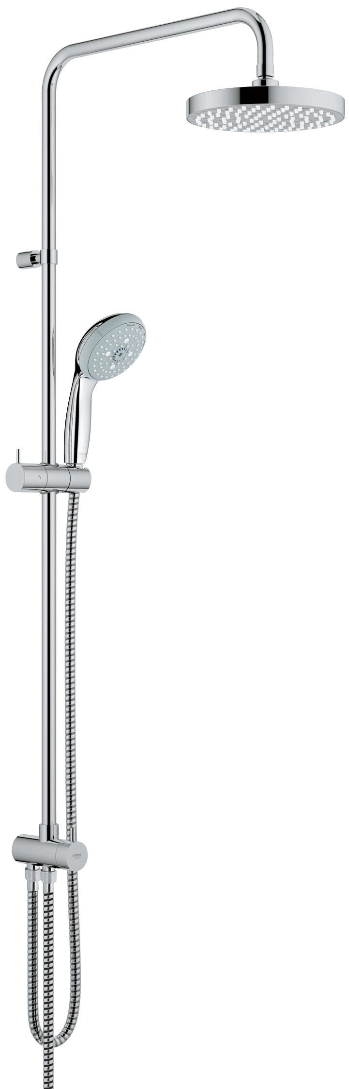 Душевая система Grohe 27389000 Tempesta 200 с верхним и ручным душем (без смесителя), хром (27389000)