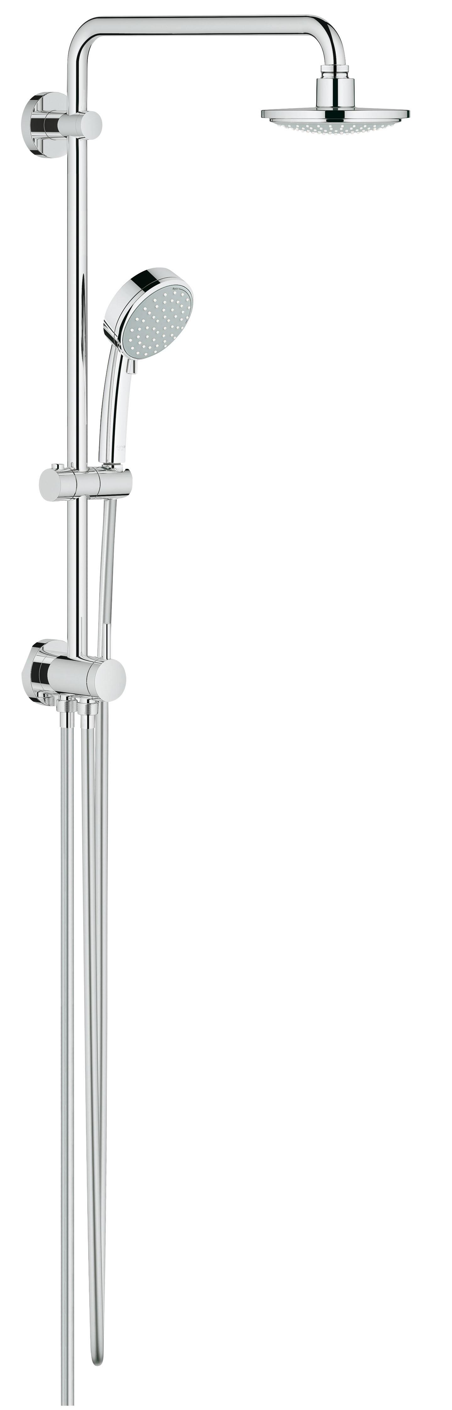 Душевая система Grohe 26225000 Tempesta Cosmopolitan 160 с верхним и ручным душем (без смесителя), хром