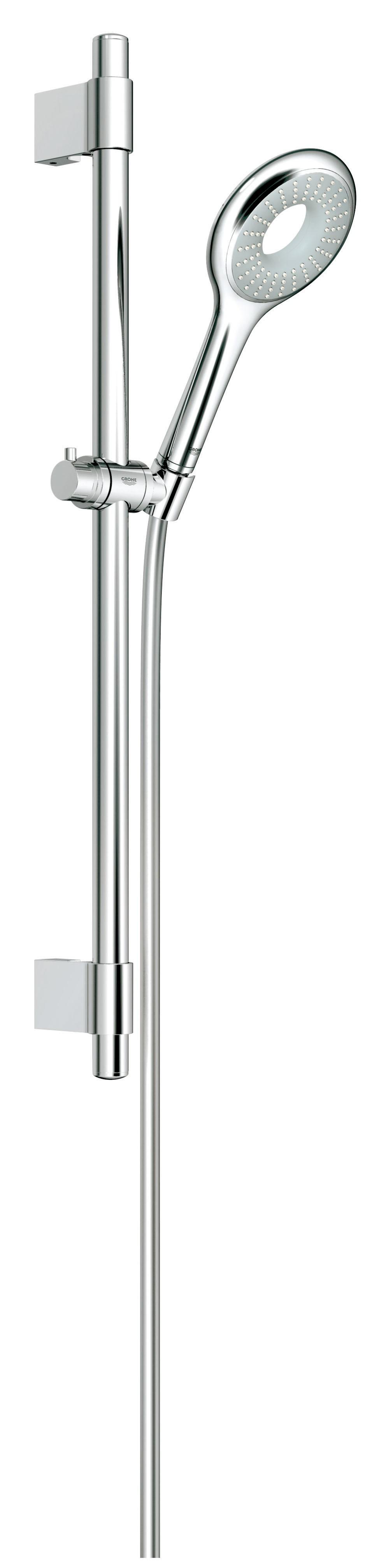Душевой гарнитур Grohe 27529000 Rainshower Icon 100 (ручной душ, штанга 600 мм, шланг 1750 мм), хром
