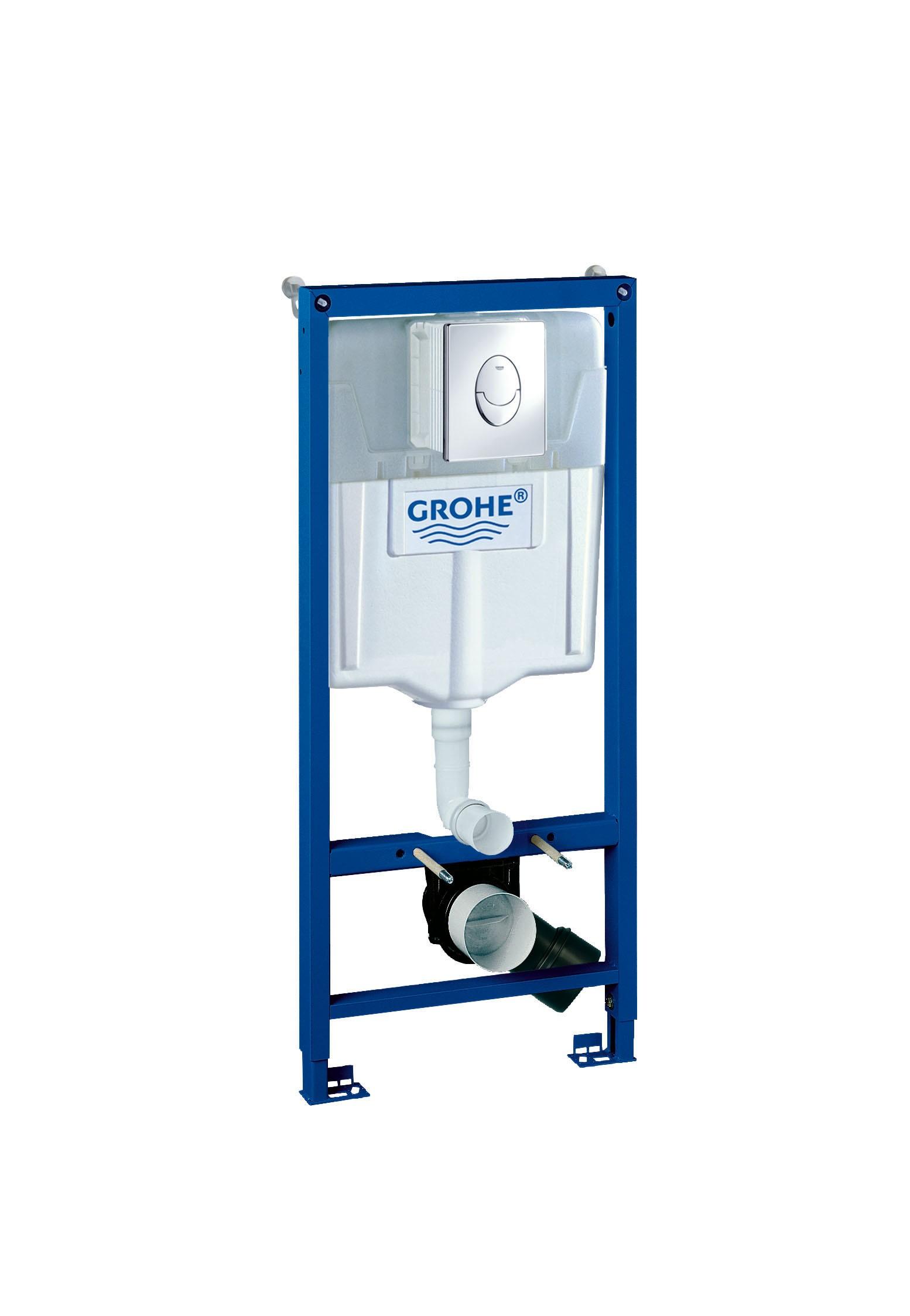 Система инсталляции для унитаза Grohe 38721001 Rapid SL с панелью смыва Skate Air (3 режима), комплект 3-в-1 (1,13 м) (38721001)