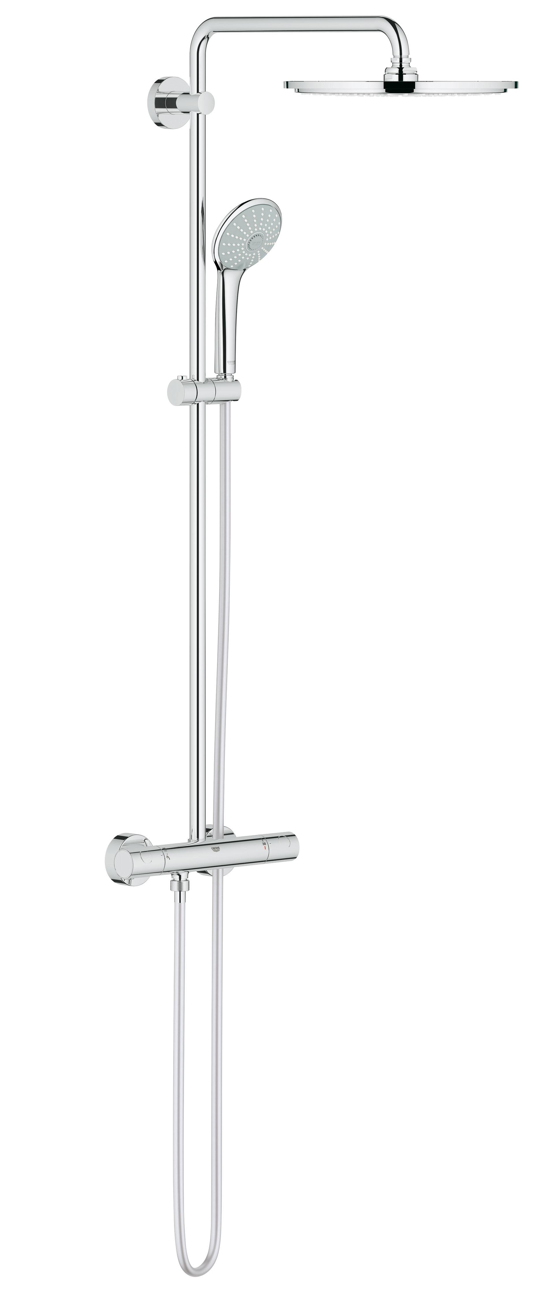 Душевая система Grohe 26075000 Euphoria 310 с верхним и ручным душем, хром