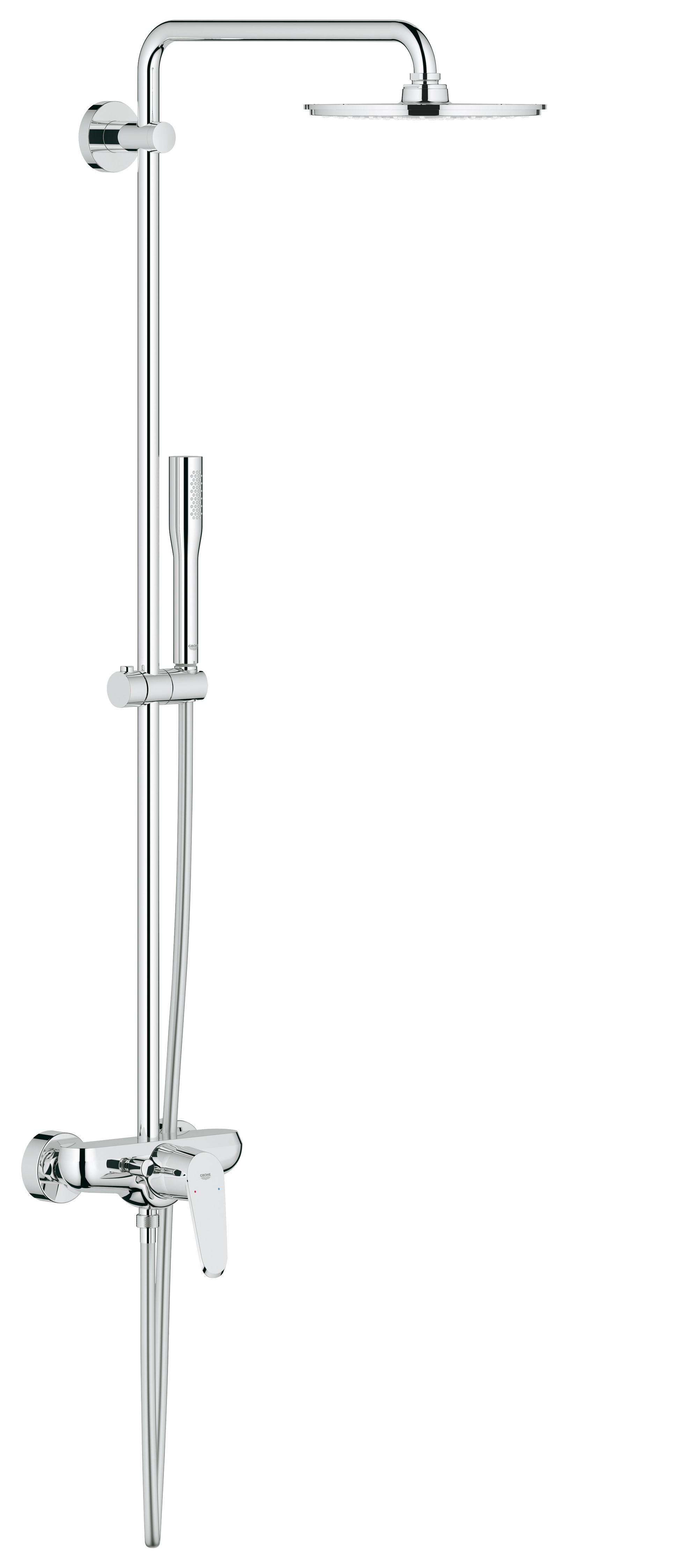 Душевая система Grohe 23058003 Euphoria 210 с верхним и ручным душем, хром