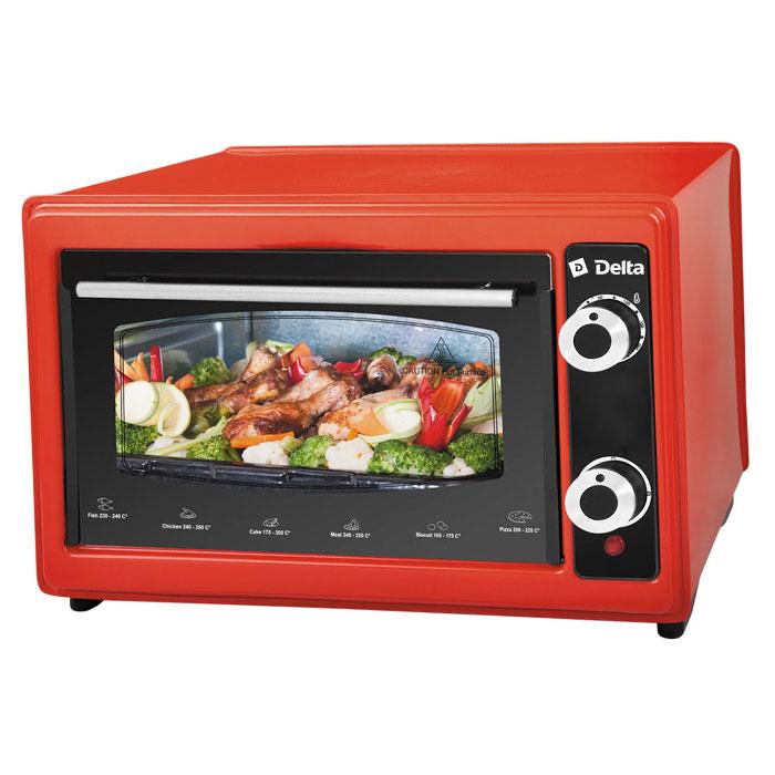 Мини-печь, ростер Delta D-022 37л, красная (рестайлинг) D-022 красная (рестайлинг) 37л