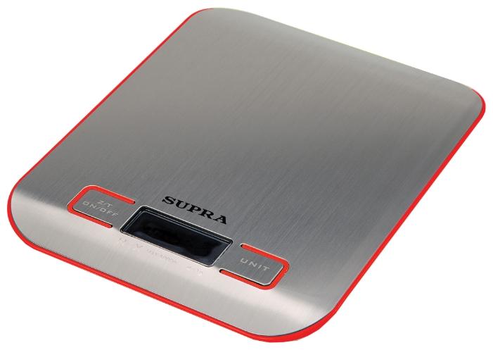 Кухонные весы SUPRA BSS-4076, красные BSS-4076 Red