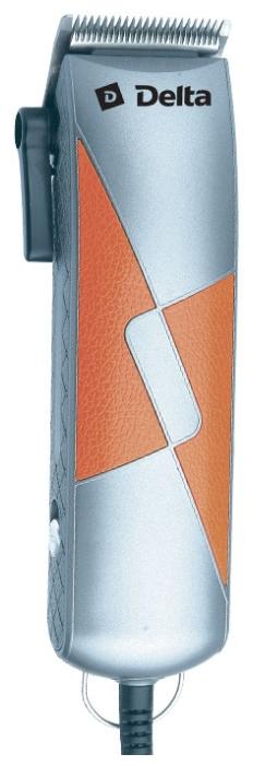 Машинка для стрижки Delta DL-4048, серебристая с оранжевым К48648