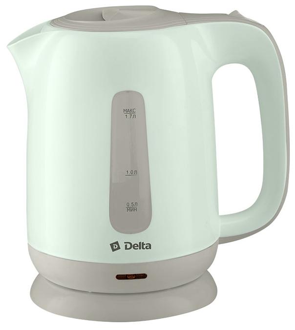 Чайник Delta DL - 1001, зелёный с серым