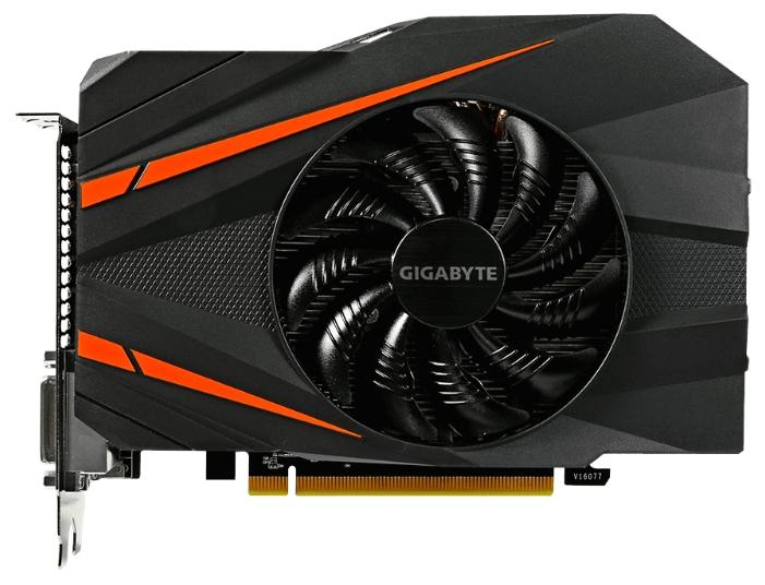 Видеокарта GeForce GigaByte GeForce GTX 1060 1556Mhz PCI-E 3.0 3072Mb 8008Mhz 192 bit 2xDVI HDMI HDCP GV-N1060IXOC-3GD