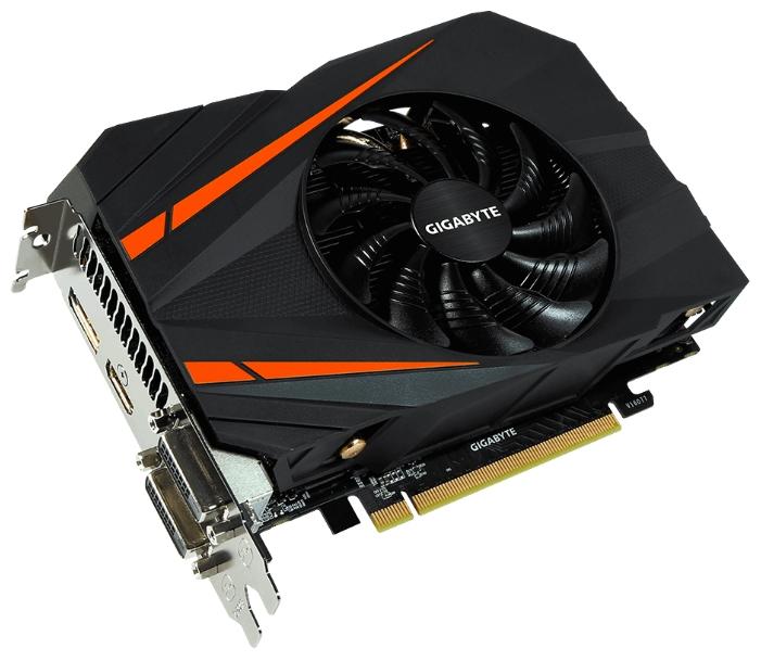 ���������� GeForce GigaByte GTX 1060 1556Mhz PCI-E 3.0 6144Mb 8008Mhz 192 bit 2xDVI HDMI HDCP GV-N1060IXOC-6GD
