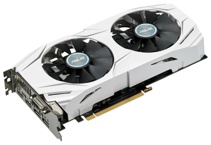 Видеокарта GeForce ASUS GTX 1060 1506Mhz PCI-E 3.0 6144Mb 8008Mhz 192 bit DVI 2xHDMI HDCP DUAL DUAL-GTX1060-6G
