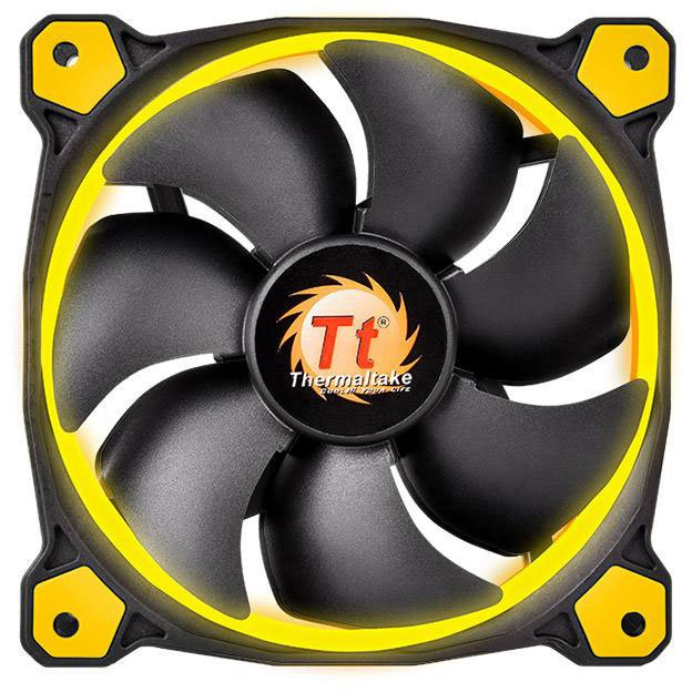 Кулер Thermaltake Riing 12 LED+LNC (120mm), желтый CL-F038-PL12YL-A