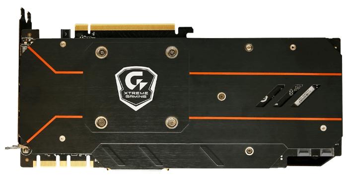 Видеокарта GeForce GigaByte GeForce GTX 1080 1784Mhz PCI-E 3.0 8192Mb 10400Mhz 256 bit DVI 3xHDMI HDCP GV-N1080XTREME W-8GD
