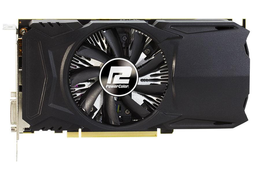 Видеокарта Radeon PowerColor Radeon RX 460 1090MHz PCI-E 3.0 2048Mb 7000MHz 128 bit DVI HDMI HDCP (AXRX 460 2GBD5-DH/OC)