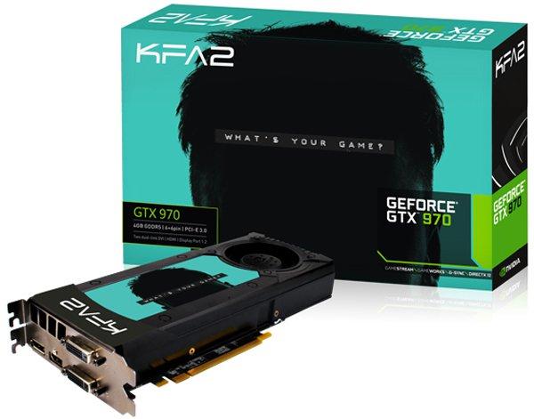 ���������� GeForce KFA2 GeForce GTX 970 1050Mhz PCI-E 3.0 4096Mb 7010Mhz 256 bit 2xDVI HDMI HDCP, 18239