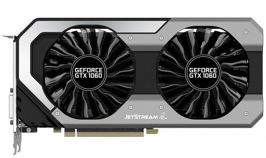 ���������� GeForce Palit GeForce GTX 1060 1506Mhz PCI-E 3.0 6144Mb 8000Mhz 192 bit 2xDVI HDMI (NE51060015J9-1060J)