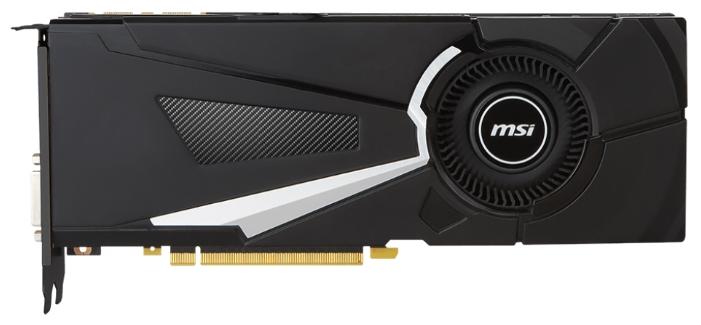 ���������� GeForce MSI GeForce GTX 1080 1632Mhz PCI-E 3.0 8192Mb 10010Mhz 256 bit DVI HDMI HDCP GTX 1080 AERO 8G OC