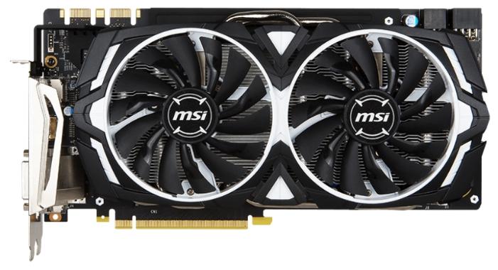 ���������� GeForce MSI GeForce GTX 1080 1657Mhz PCI-E 3.0 8192Mb 10010Mhz 256 bit DVI HDMI HDCP GTX 1080 ARMOR 8G OC