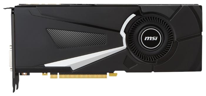 Видеокарта GeForce MSI GeForce GTX 1070 1531Mhz PCI-E 3.0 8192Mb 8008Mhz 256 bit DVI HDMI HDCP (GTX 1070 AERO 8G OC)