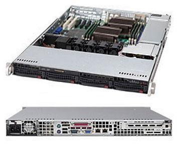 Серверная платформа Supermicro CSE-815TQ-563CB, корпус для сервера (1U, 4x3.5'', 560 Вт), чёрный