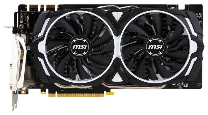 Видеокарта GeForce MSI GeForce GTX 1070 1556Mhz PCI-E 3.0 8192Mb 8008Mhz 256 bit DVI HDMI HDCP, ARMOR 8G OC GTX 1070 ARMOR 8G OC