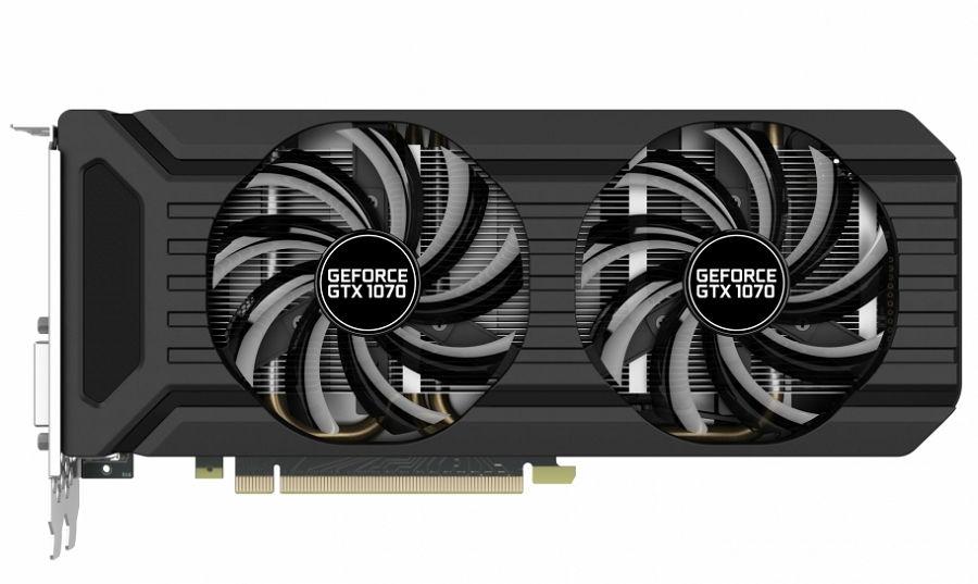 Видеокарта GeForce Palit GeForce GTX 1070 1506Mhz PCI-E 3.0 8192Mb 8000Mhz 256 bit DVI HDMI HDCP (PA-GTX1070 Dual 8G) NE51070015P2-1043D