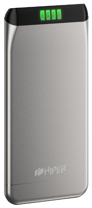 Аксессуар для телефона SLS6300, портативный аккумуляор, 6300 мАч, 2.1 А, USB, серебристый SLS6300 SILVER HIPER