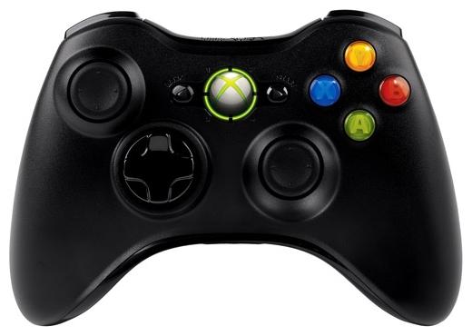 Геймпад Xbox 360 Microsoft Беспроводной черный NSF-00002