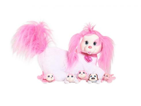 Игрушка мягкая Just-Play Собачка Рокси и ее щенки, розовая 42107