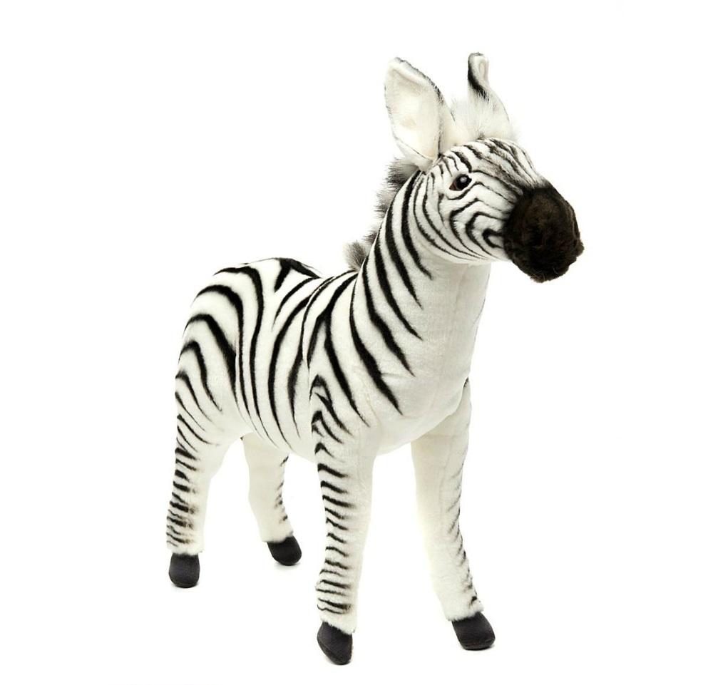 Игрушка мягкая Hansa Зебра, 41 см, белая / черная 2354
