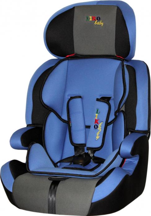 Автокресло Liko-Baby LB 515 B, чёрно-голубое