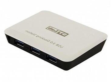 USB концентратор STLab U-810 (активный, 3 x USB 3.0, Gb-LAN)