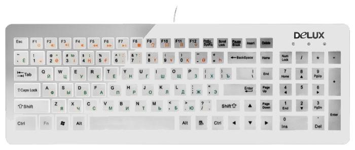 Клавиатура Delux DLK-1500 USB, белая K1500 белый