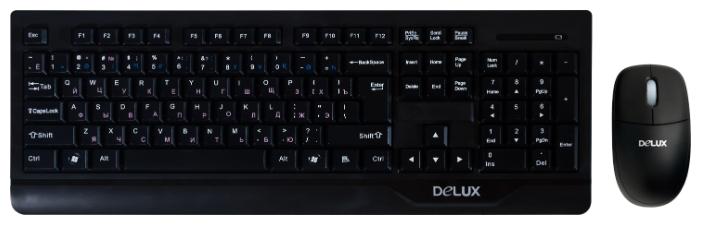 Комплект Delux K6000+M371 USB, черный