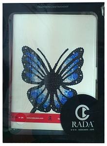 """Rada for iPad 2/3 White """"Butterfly"""" Swarovski"""