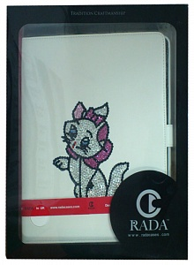 "чехол ipad Rada for iPad 2/3 White ""Cat"" Swarovski"