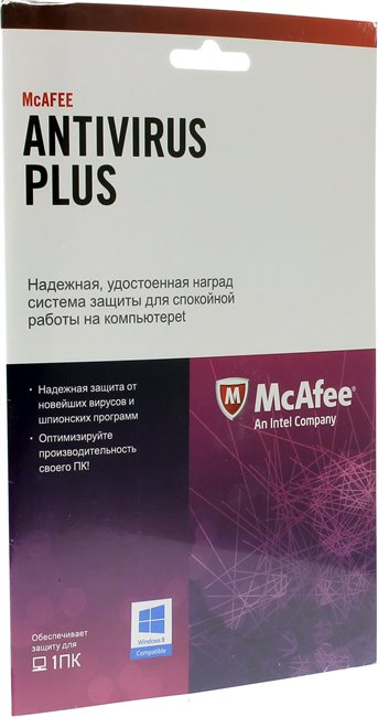 Антивирус McAfee AntiVirus Plus 2013 Intel Original BXMAV1YRRUS