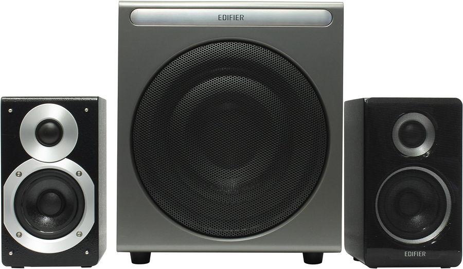 Компьютерная акустика Edifier S530D (2.1, 35+35+70 Вт), серебристый/чёрный