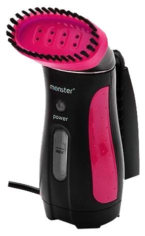 Пароочиститель-отпариватель Euroflex Monster MS-10879, черный/розовый