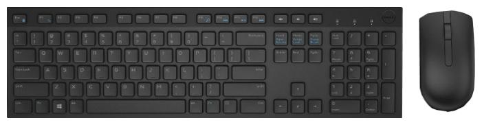Комплект DELL KM636 Wireless Keyboard and Mouse, черный