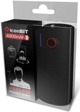 Аксессуар для телефона IconBit FTB4000SF 4000 mAh (с селфи-кнопкой) FT-0081S