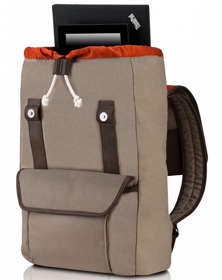 Сумка для ноутбука Lenovo Casual Backpack, бежевая 4X40E77333