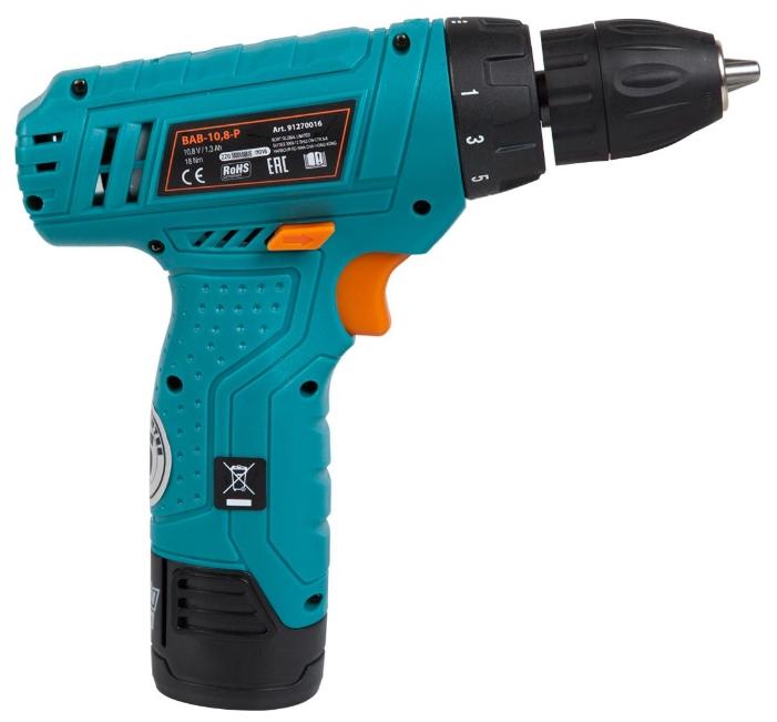 Дрель Bort BAB-10.8-P (быстрозажимной аккумуляторный патрон) 91270016