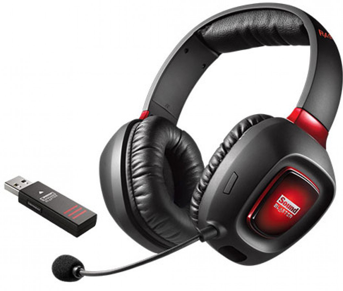 Creative Sound Blaster Tactic3D Rage Wireless, черная / красная