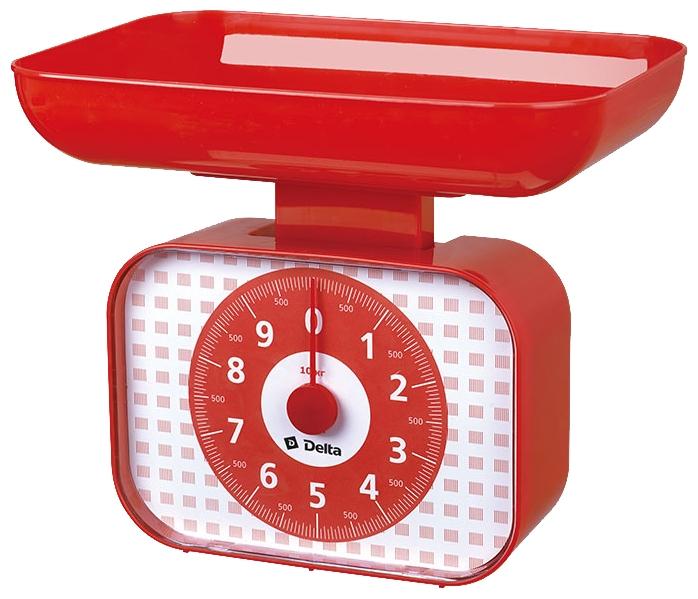 Кухонные весы Delta КСА-105, красные КСА-105 красный