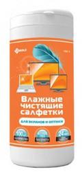 Чистящая принадлежность для ноутбука Чистящие салфетки KREOLZ NBT-1 (Арт. 130001) влажные в тубе для LCD/TFT мониторов и телевизоров,