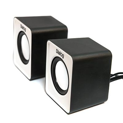 Компьютерная акустика Dialog AC-02UP, бело-черная