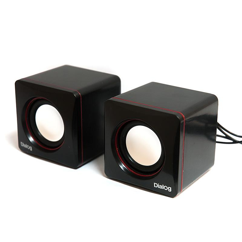 Компьютерная акустика Dialog AC-04UP, черно-красная