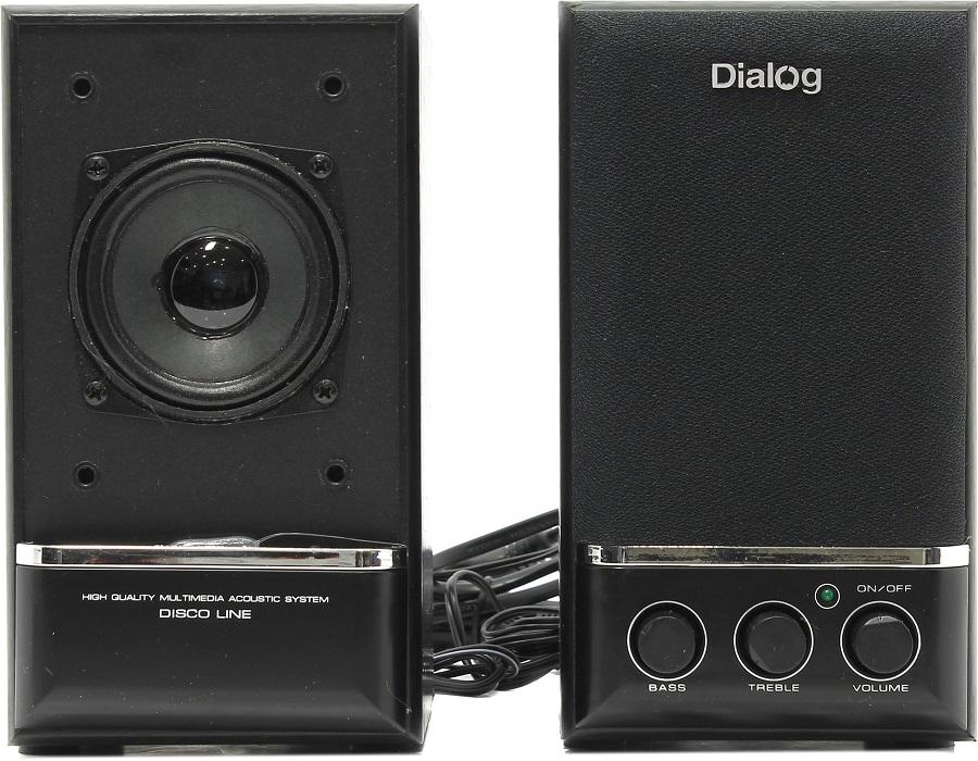 Компьютерная акустика Dialog AD-04 (дерево), черная