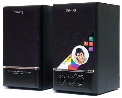 Компьютерная акустика Dialog AD-06, черная