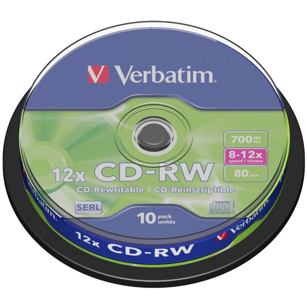 Оптический диск Verbatim CD-RW 80 (10шт./кейкбокс) 43480
