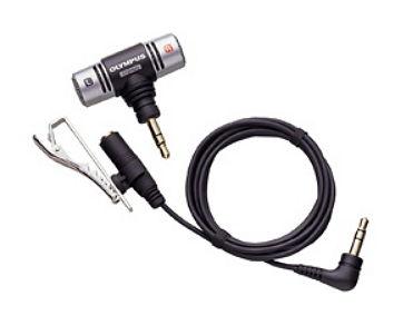 Микрофон для пк Olympus ME-51SW, проводной, компактный, с клипсой, стерео